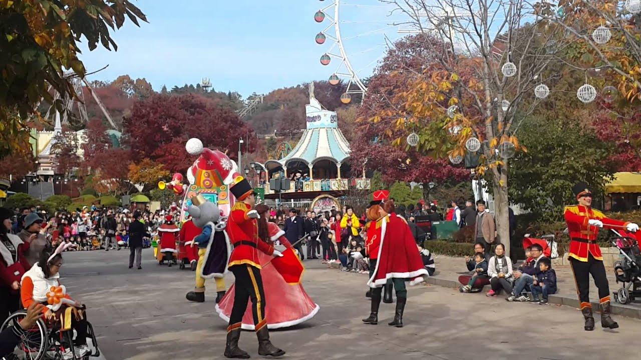 Christmas Parade at Everland Theme Park, South Korea