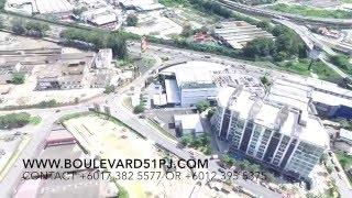 aerial view of boulevard 51 petaling jaya