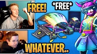 "Streamers Get & React to the *FREE* New ""EQUALIZER"" Glider! - Fortnite Best and Funny Moments"