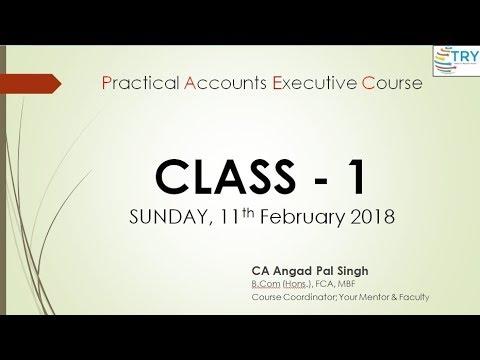 PAEC- Class 1 - 11th Feb 2018