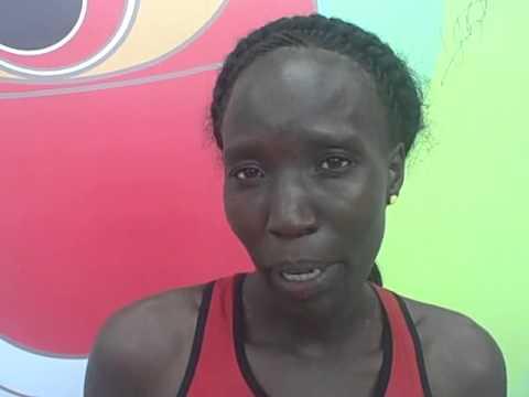 Edna Kiplagat After 5th Place 2015 Worlds Marathon