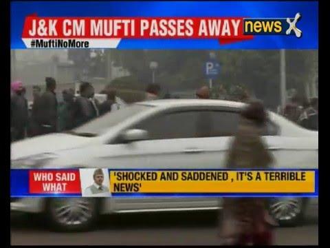 Jammu and Kashmir CM Mufti Muhammad Sayeed passes away at 79