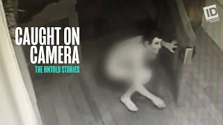 A man wearing nothing but mask, and sock on his private parts, lurks outside couple's home new year's eve. their doorbell camera captures creepy...