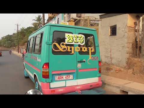 Driving Around Real Freetown - Sierra Leone - 10 Mins FHD