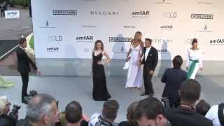 amfAR Charity Gala arrivals at Hotel Du Cap