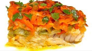 Вкусно - #РЫБА ТРЕСКА Запеченная с Овощами Как Вкусно Приготовить Рыбу #Рецепт