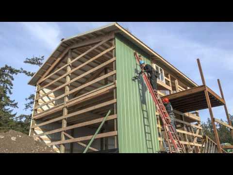 PermaBilt® Pole Building Two Story Metal Garage - Freeland, WA