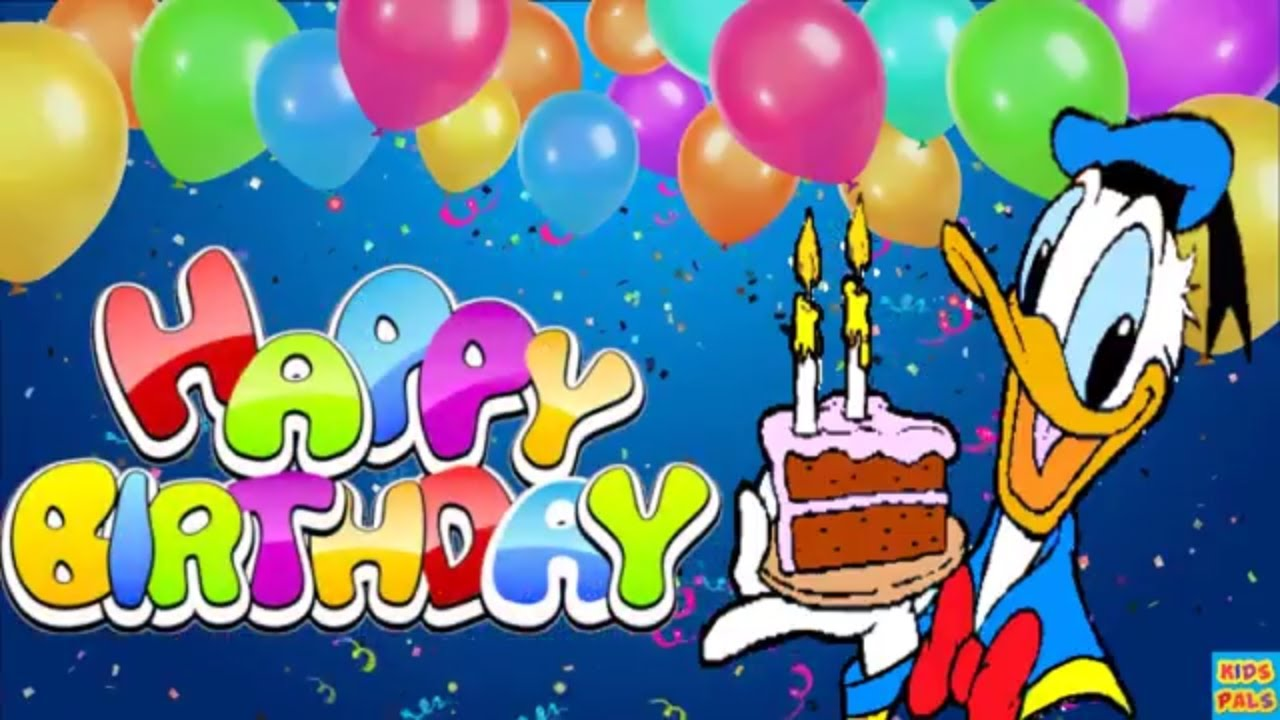 Original Happy Birthday Song ♫♫♫ With Donald Duck And