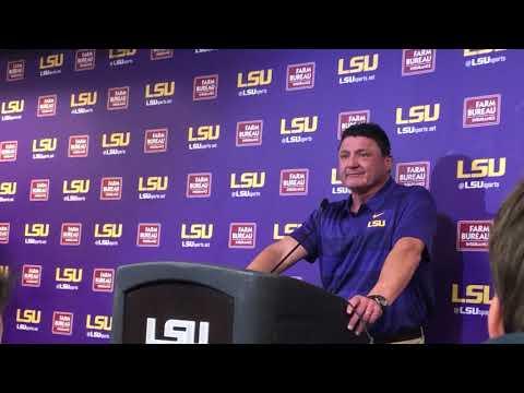 LSU coach Ed Orgeron discusses 29-0 loss to Alabama
