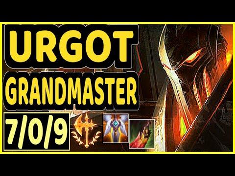 STROMPEST (URGOT) - 7/0/9 KDA GAMEPLAY - NA Ranked GRANDMASTER