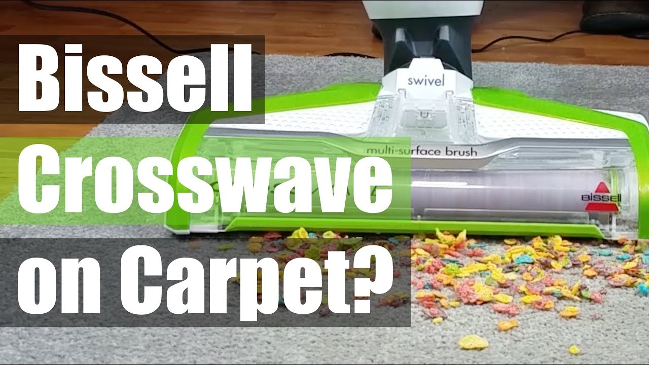 Can You Use A Bissell Crosswave On Carpet Youtube