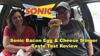 Sonic Bacon Egg & Cheese Breakfast Slinger Taste Test Review | JKMCraveTV