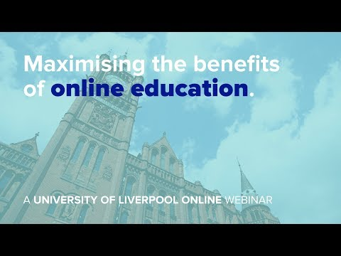 Webinar: Maximising the benefits of online education