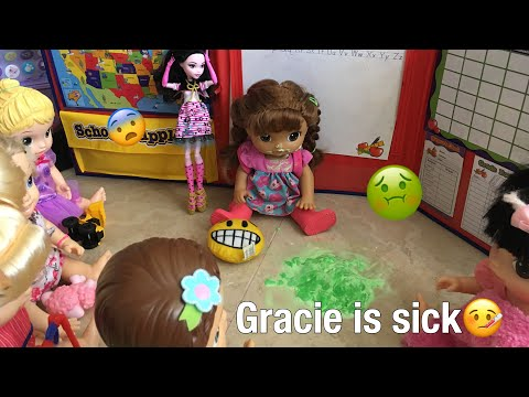 BABY ALIVE Gracie has the flu! Gracie is sick at school!