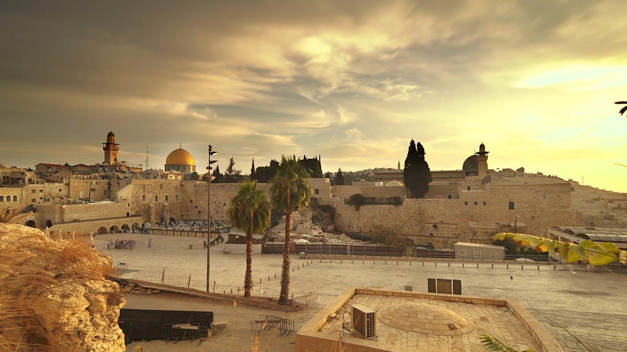 Israel Flag Wallpaper Hd Time Lapse Of Sunrise Over Old Jerusalem Youtube