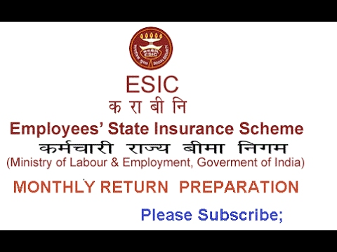 How To File Esi Return Online   Preparation And Submission On Live Project   Esic   Online Challan