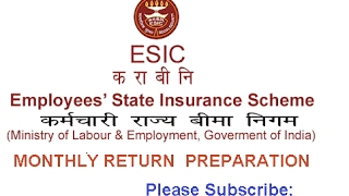 How to File Esi return online | preparation and submission on live project | esic | online challan