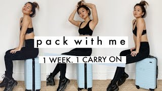 HOW TO PACK *everything * IN A CARRY ON... it's possible