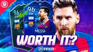 Gambar cover POTM MESSI WORTH IT? 96 TOTGS MESSI PLAYER REVIEW! - FIFA 20 Ultimate Team