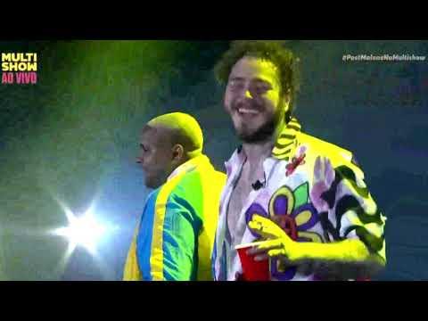 Post Malone e Kevin O Chris no Lollapalooza Brasil 2019