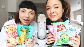 ASMR EATING THAI CANDY 🍭🍫 (ft. mariieveronica)