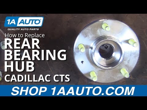 How to Replace Rear Bearing Hub Assembly 03-07 Cadillac CTS