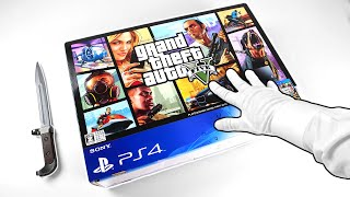 "PS4 ""GRAND THEFT AUTO V"" UNBOXING! Sony PlayStation 4 GTA 5 Console"