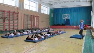 Школа 61 фрагмент открытого урока физкультуры ч.1