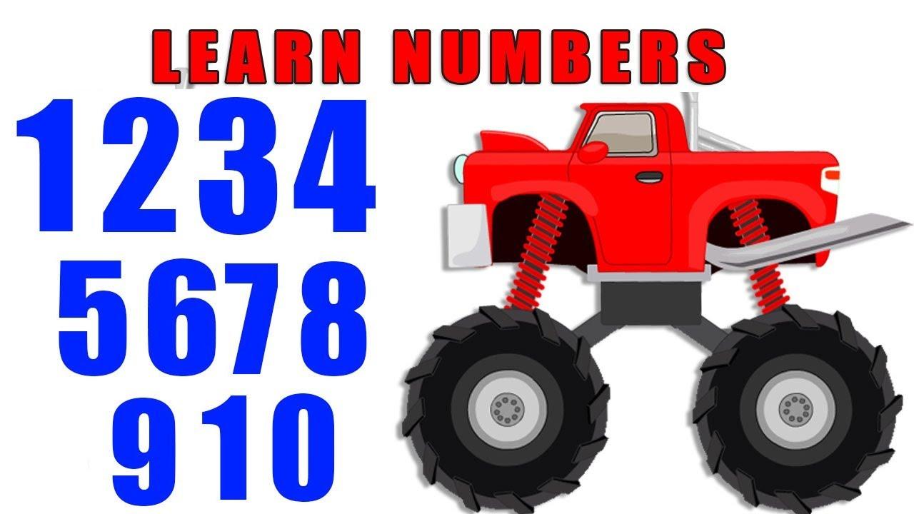 Monster Truck Learning Numbers | Monster Truck Videos ...