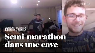 En plein confinement face au coronavirus, il court un semi-marathon dans une cave en Alsace