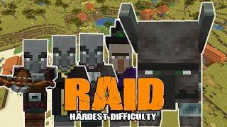 Minecraft 1.14 Survival Village Raid Hardest Difficulty