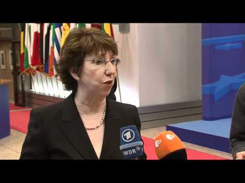 EUHR Ashton: Egypt 'must respect' democratic values (raw video)
