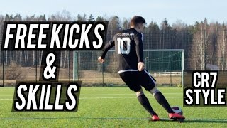 Football Skills and Free Kicks - Ronaldo Style Shots