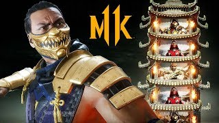 [4K] MORTAL KOMBAT 11 - Scorpion vs Scarlett/Baraka/Scorpion Klassic Tower Gameplay @ 60ᶠᵖˢ ᵁᴴᴰ ✔