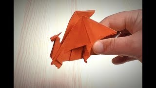 PAPER Red Dragon - Origami DRAGON - Paper ART