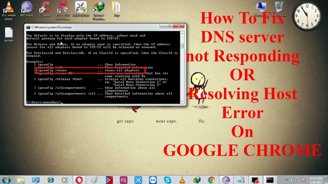 How to Fix DNS server not Responding or Resolving host Error on Google  Chrome