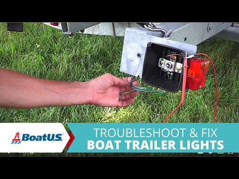 how to troubleshoot and fix boat trailer lights that don't work | boatus -  youtube