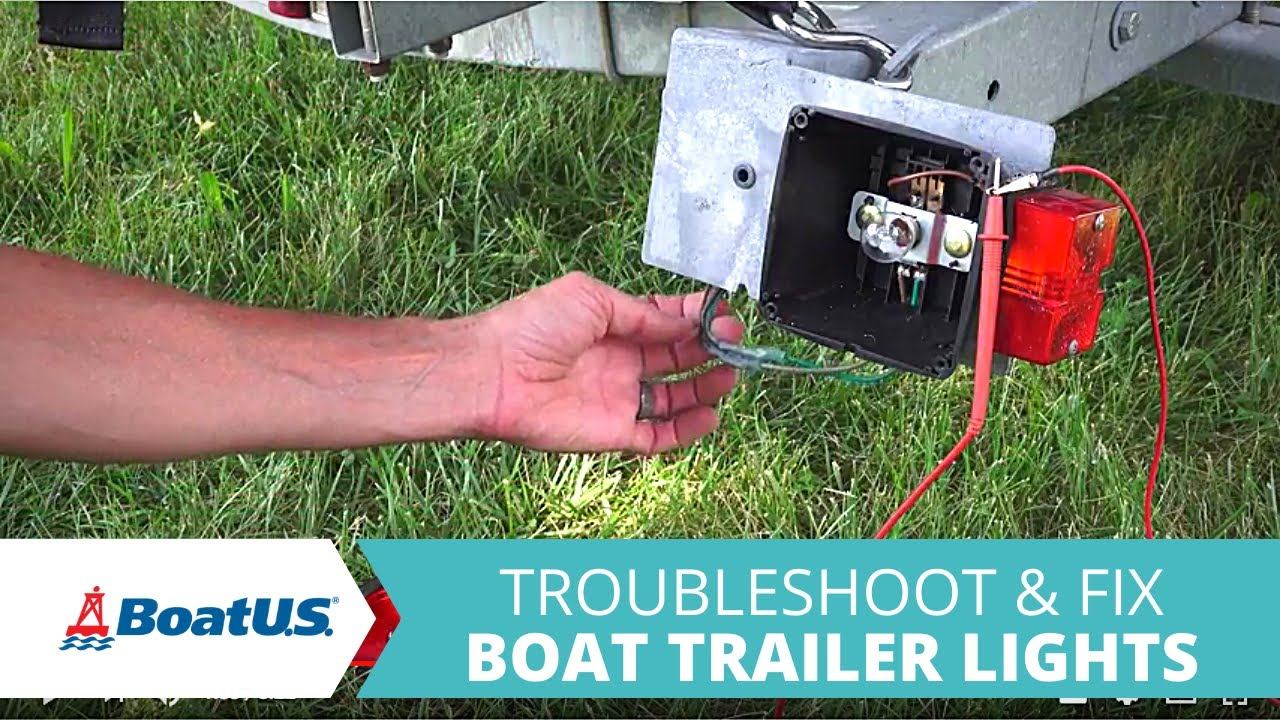 How To Troubleshoot And Fix Boat Trailer Lights That Dont Work Flatbed Wiring Diagram Boatus