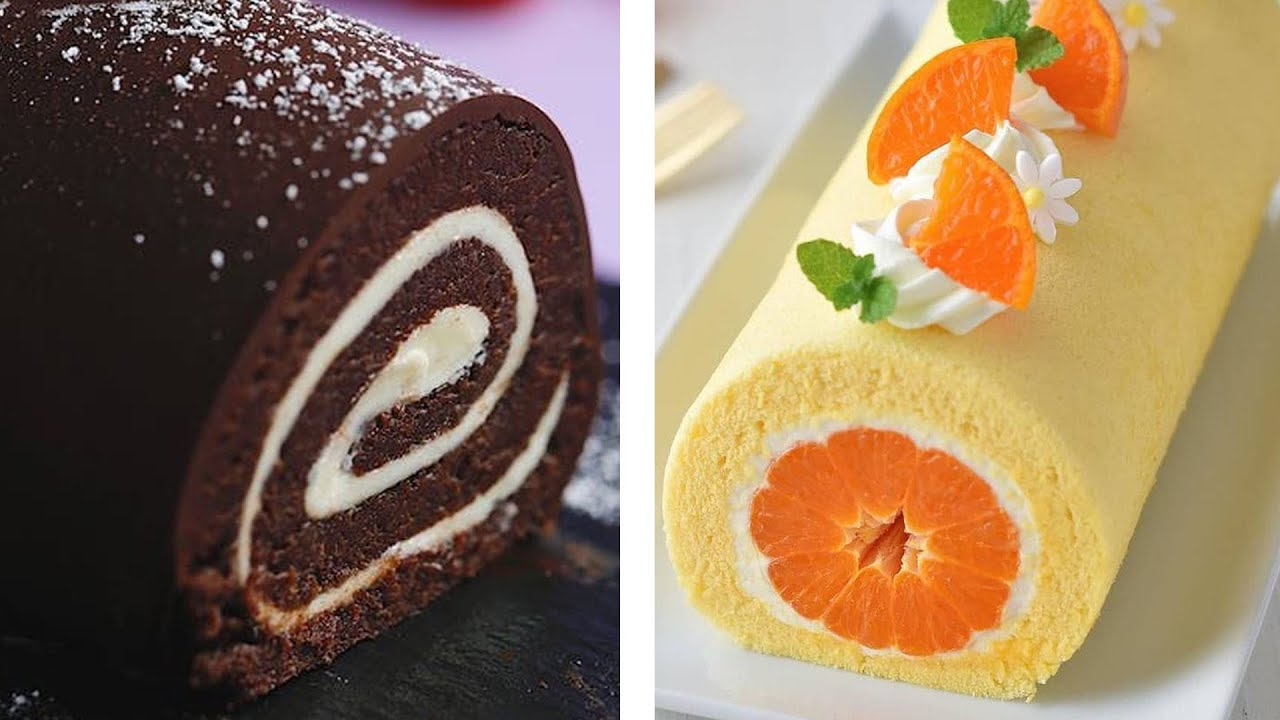 How to make Swiss Roll Cake - Chocolate Roll Cake Recipe - Easy Japanese Roll Cake
