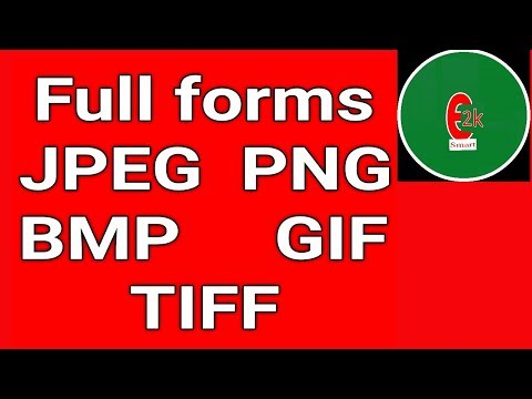 Most Important Full Forms JPEG,PNG,BMP,GIF,TIFF Full Form Easy Full Forms 