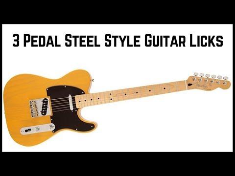 3 Pedal Steel Style Guitar Licks - Country Guitar Lesson - Jon MacLennan