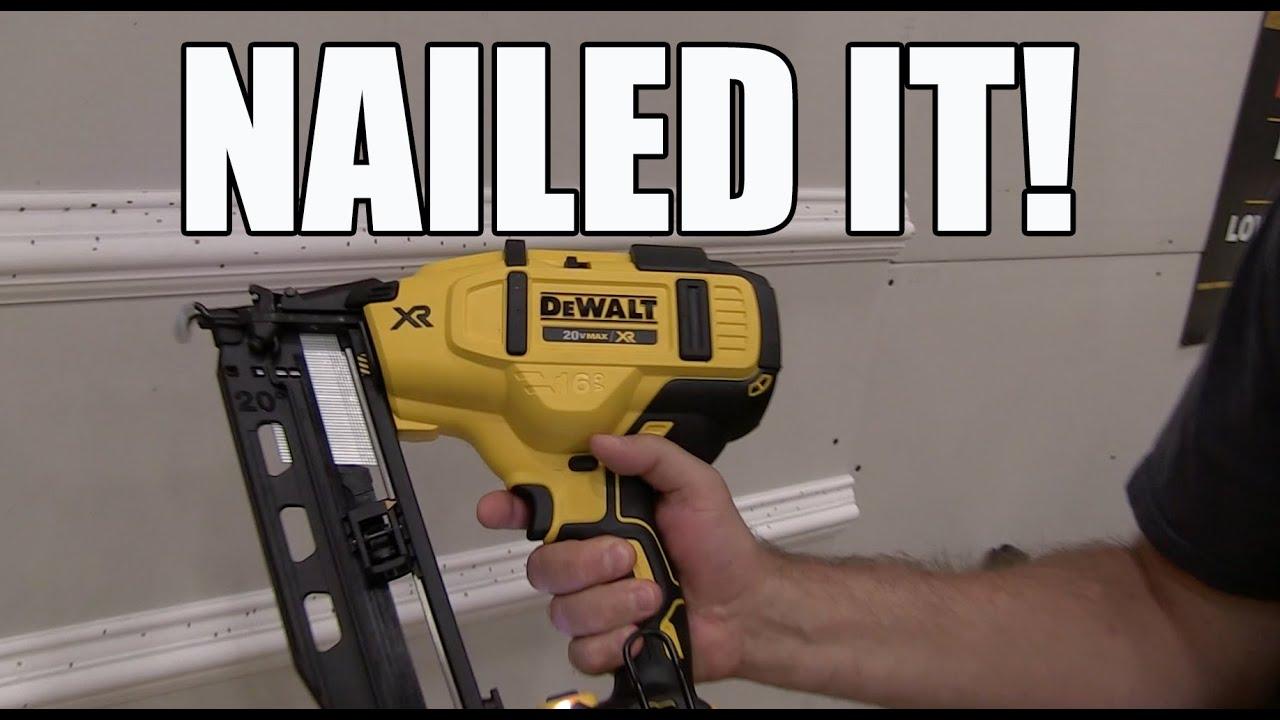 DeWALT DCN660 20V Brushless 16 Gauge Finish Nailer - Sneak Peek ...