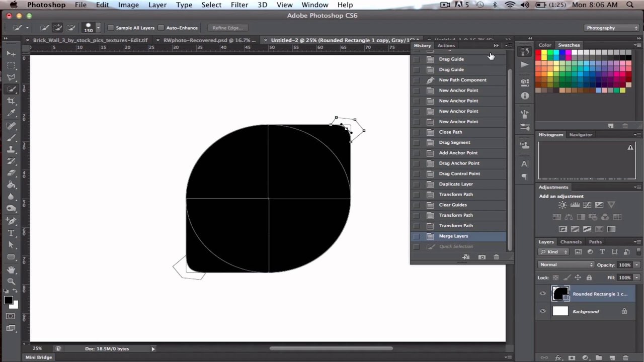 Photoshop Cs6 Logo Vector Create logo using vector shapes in cs6 ...