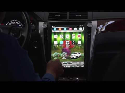 Màn hình DVD android xe Toyota Camry | Kiểu Tesla | Bcarauto.vn