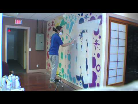 Spray Painting Time Lapse on CatPrint Graffiti Wall