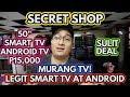 SECRET LEGIT SMART TV   WAREHOUSE   HARI NG MURANG ANDROID SMART TV!!! DAMENG 32 INCH TV!