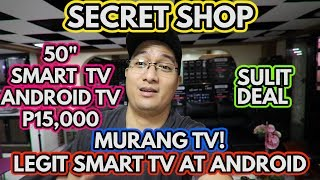 SECRET LEGIT SMART TV | WAREHOUSE | HARI NG MURANG ANDROID SMART TV!!! DAMENG 32 INCH TV!