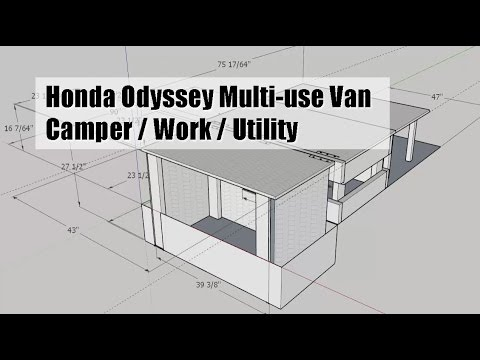 Honda Odyssey van mod - DIY camper / work / utility (plan ...