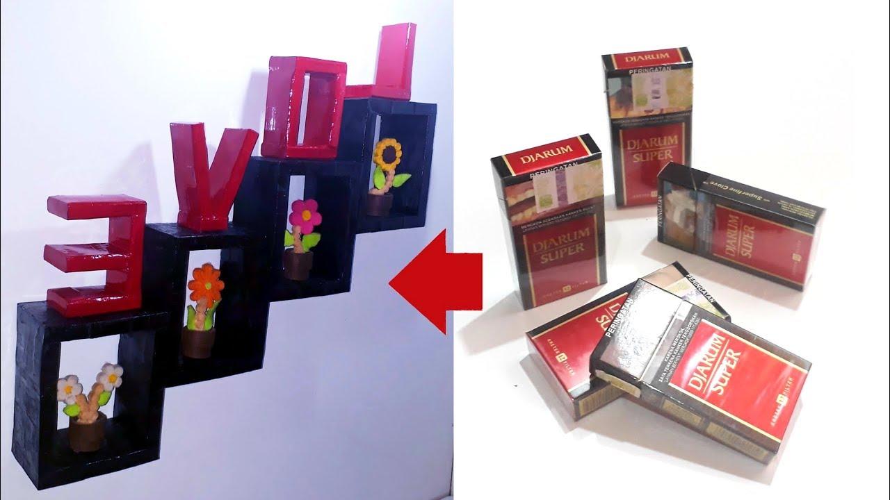 DIY || CARA MEMBUAT RAK DINDING DARI BUNGKUS ROKOK || How to make ...