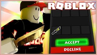 Murder Mystery 2 Trolling | GUEST SCAMS FOR RAREST KNIFE IN GAME!? | Roblox